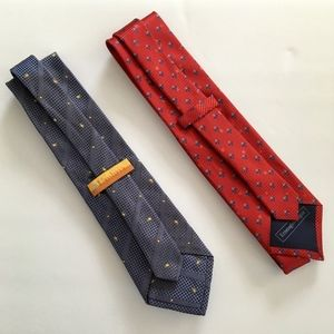 2 Men's Silk Ties - ERMENEGILDO ZENGA + UMBRIA XMI
